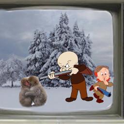 freetoedit remixed elmerfudd monkeys old