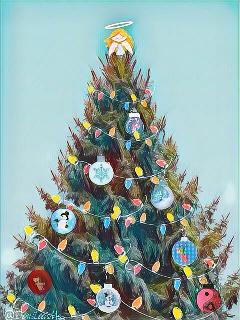 freetoedit christmastree remixoftheday remixchallengeoftheday magiceffect