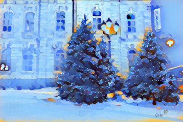 winter wonderland christmastree magiceffects madewithpicsart