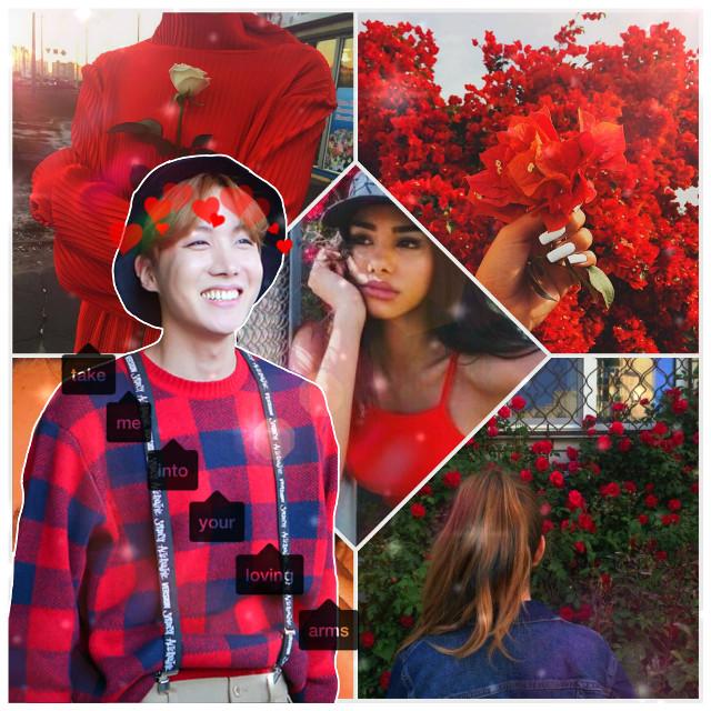 #jhope #myhope #army #bts #respectjhope #bts #red #smile #cuteaf #fckthisislit #hearts #text #hoseok