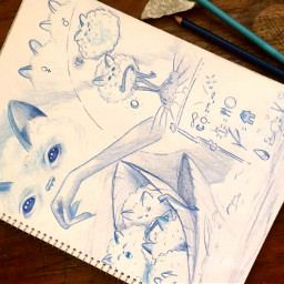 garden creature bluenight fantasyillustration curiousworlds