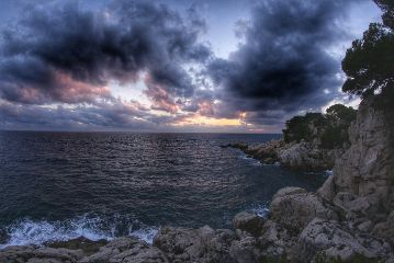 hdr photography clouds sunset sea