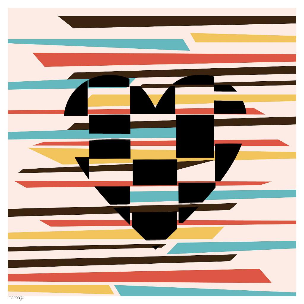#popart  #mydesign  #retro  #vintage  #heart #creative  #madewithpicsart  #art