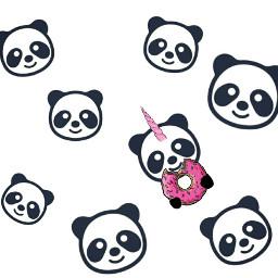 freetoedit dailyremixmechallenge donut pandaremix pandacorn