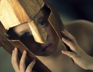 mask gold portrait portraitphotography