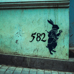 freetoedit aliceinwonderland rabbit tbilisi graffiti
