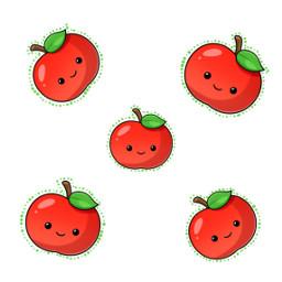 apples cutout dottedoutline freetoedit
