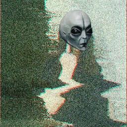 freetoedit alien glitch tumblrgirl