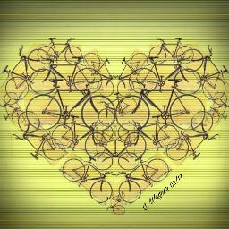 freetoedit bicycle bicycleride bike heart