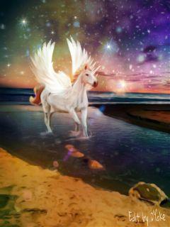 freetoedit clipart mystical unicorn