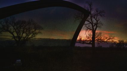 sunset kansas prairie landscape