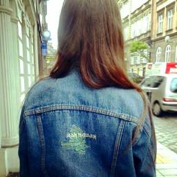 freetoedit girl jeansjacket walking