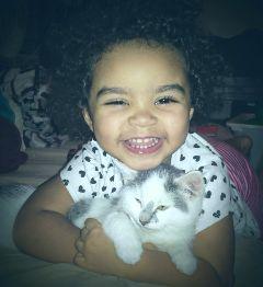freetoedit mypic daughter kitten joy