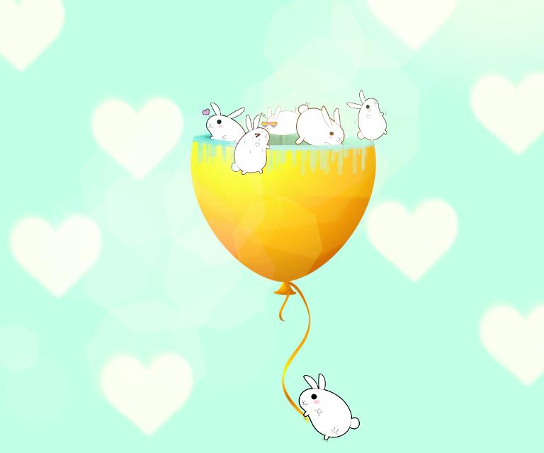 #FreeToEdit Idk(?) #freetoedit #cute #rabits #colorful #hearts #pretty